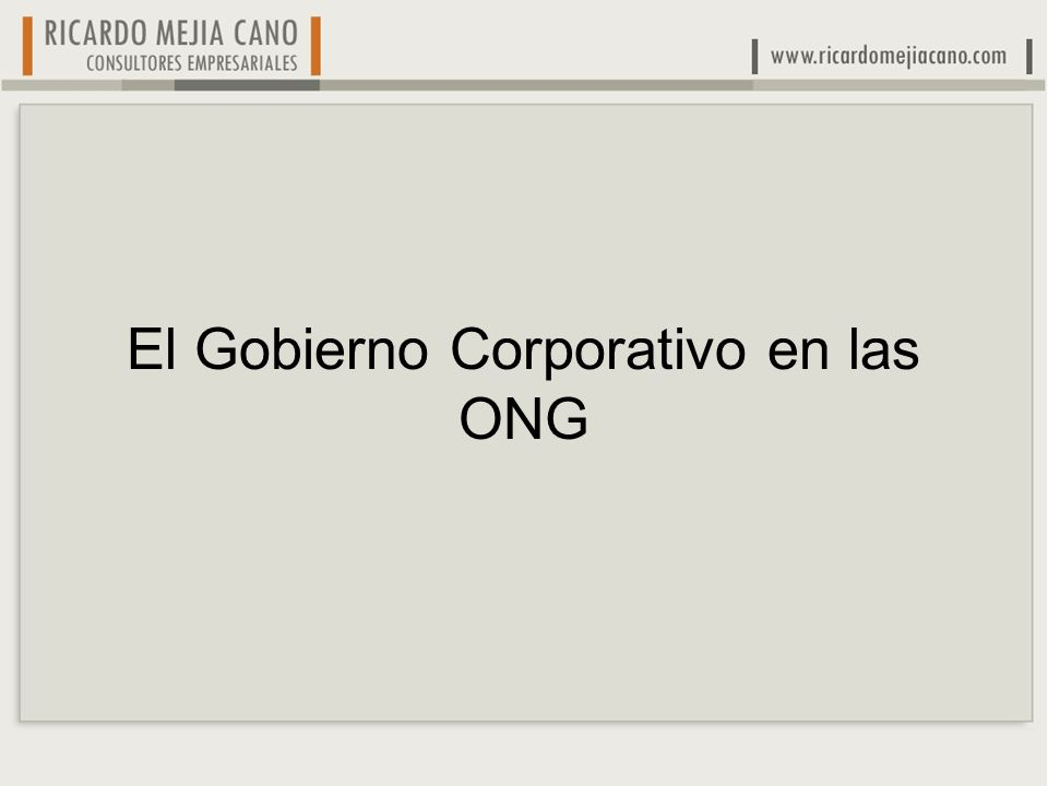 Sin donantes una ONG no tiene razón de ser Después de los donantes, transparencia, un Código de Gobierno Corporativo moderno le sigue en importancia Doloroso, pero sin donantes satisfechos y comprometidos no habrá beneficiarios