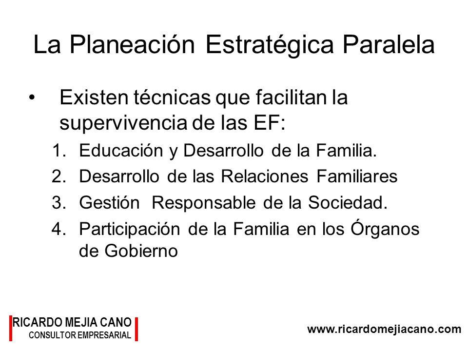 www.ricardomejiacano.com RICARDO MEJIA CANO CONSULTOR EMPRESARIAL La Planeación Estratégica Paralela Existen técnicas que facilitan la supervivencia d