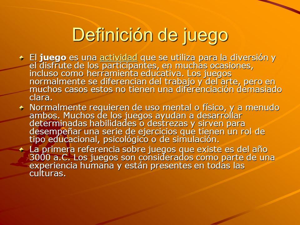 Definición de juego El juego es una a a a a a cccc tttt iiii vvvv iiii dddd aaaa dddd que se utiliza para la diversión y el disfrute de los participan