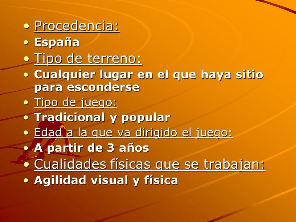 Procedencia:Procedencia: EspañaEspaña Tipo de terreno:Tipo de terreno: Cualquier lugar en el que haya sitio para esconderseCualquier lugar en el que h