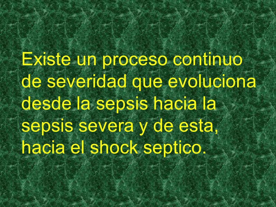 Sepsis por tanto, puede ser descrito como un proceso autodestructivo que permite la extensión de una respuesta fisiopatologica normal a la infección,involucrando a otros tejidos normales.