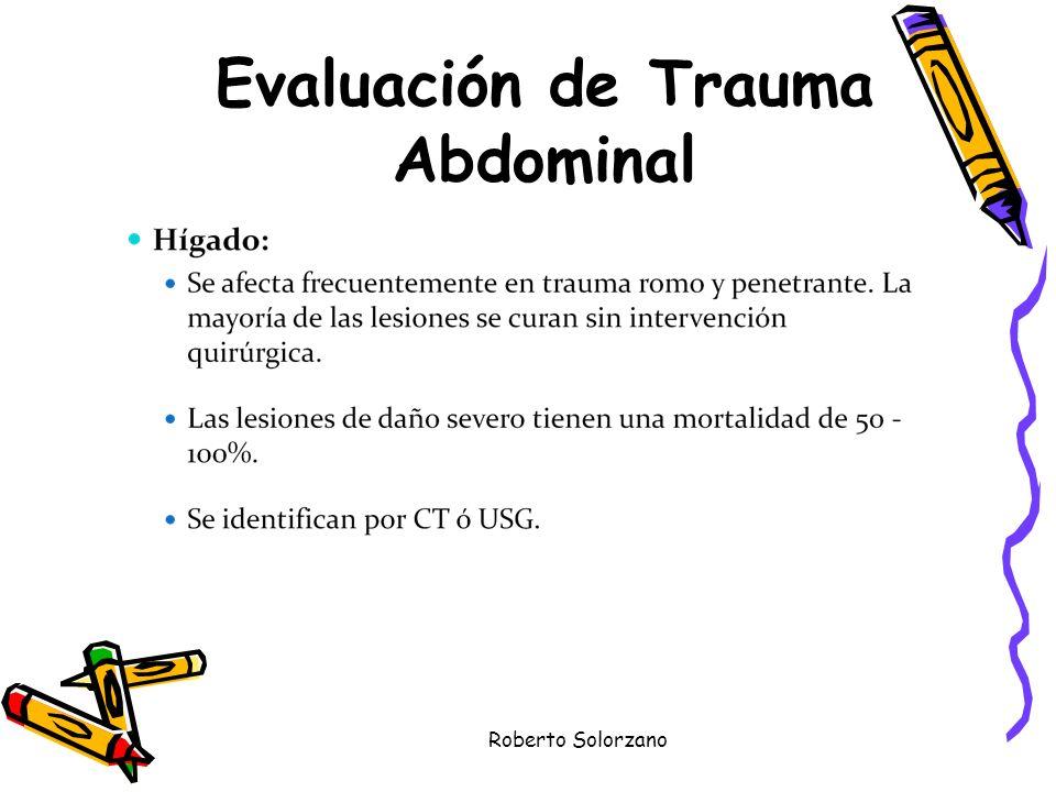 Roberto Solorzano Evaluación de Trauma Abdominal