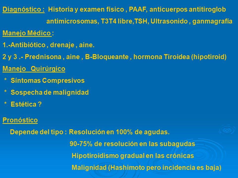 VI. TIROIDITIS.. Definición : Infiltración del tiroides por células inflamatorias. Clasificación : 1.- Aguda supurada : Bacteriana 2. Subaguda : Granu