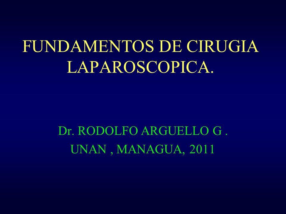 FUNDAMENTOS DE CIRUGIA LAPAROSCOPICA. Dr. RODOLFO ARGUELLO G. UNAN, MANAGUA, 2011