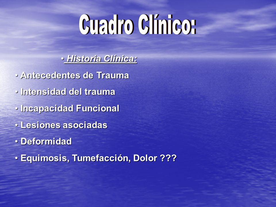 Signos Generales Signos Locales Shock o Hemorragia Lesiones del Cerebro, Médula o vísceras Tumefacción, Equimosis Deformidad Piel intacta o no Palpación