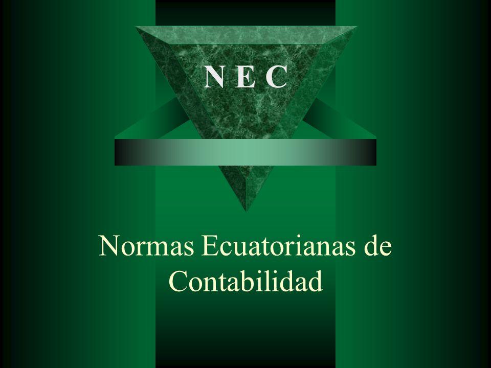 Normas Ecuatorianas de Contabilidad N E C