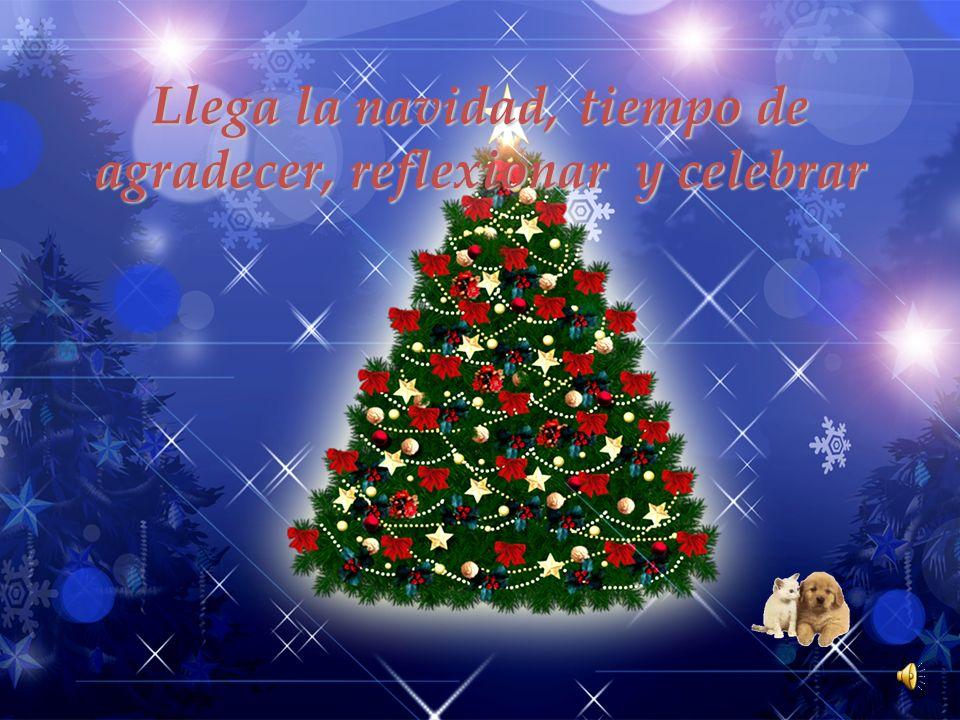Llega la navidad, tiempo de agradecer, reflexionar y celebrar