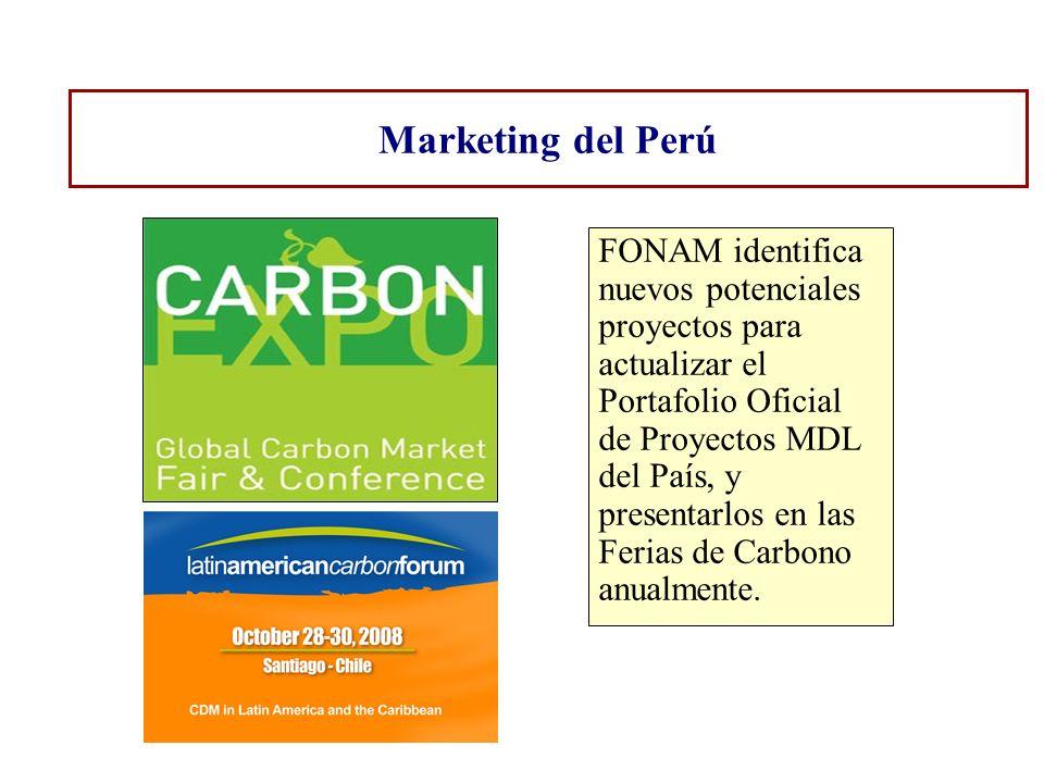 Marketing del Perú FONAM identifica nuevos potenciales proyectos para actualizar el Portafolio Oficial de Proyectos MDL del País, y presentarlos en la