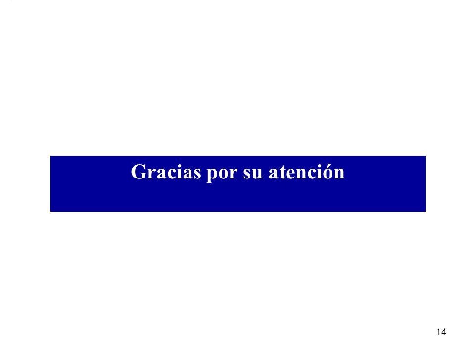 Gracias por su atención 14