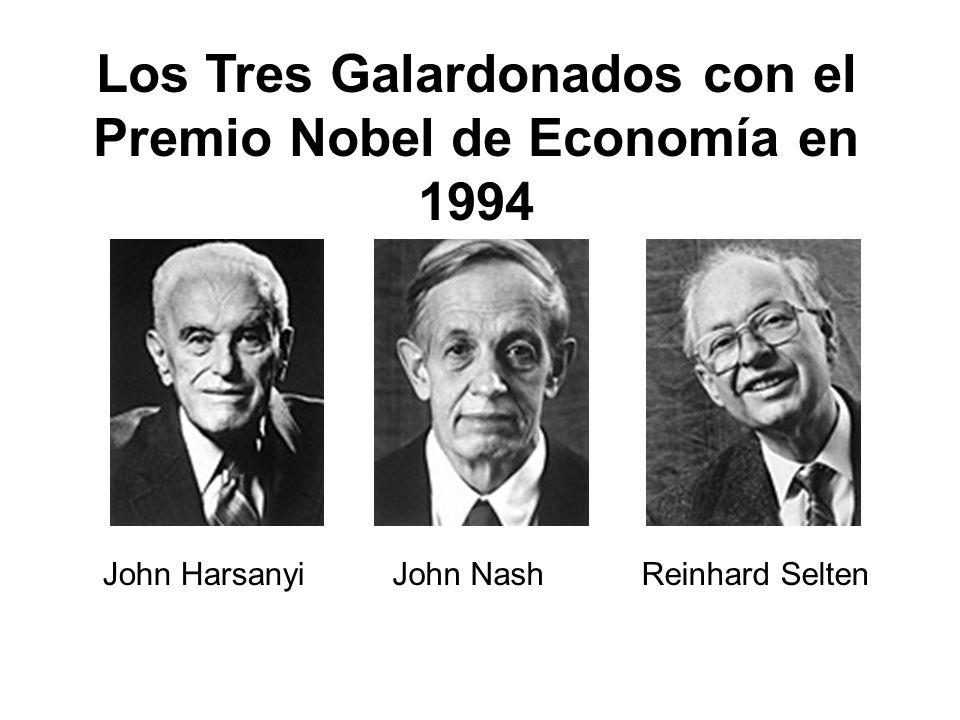 John HarsanyiJohn NashReinhard Selten Los Tres Galardonados con el Premio Nobel de Economía en 1994