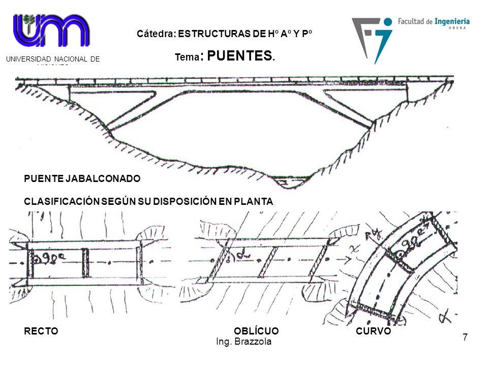 Cátedra: ESTRUCTURAS DE Hº Aº Y Pº Tema : PUENTES.