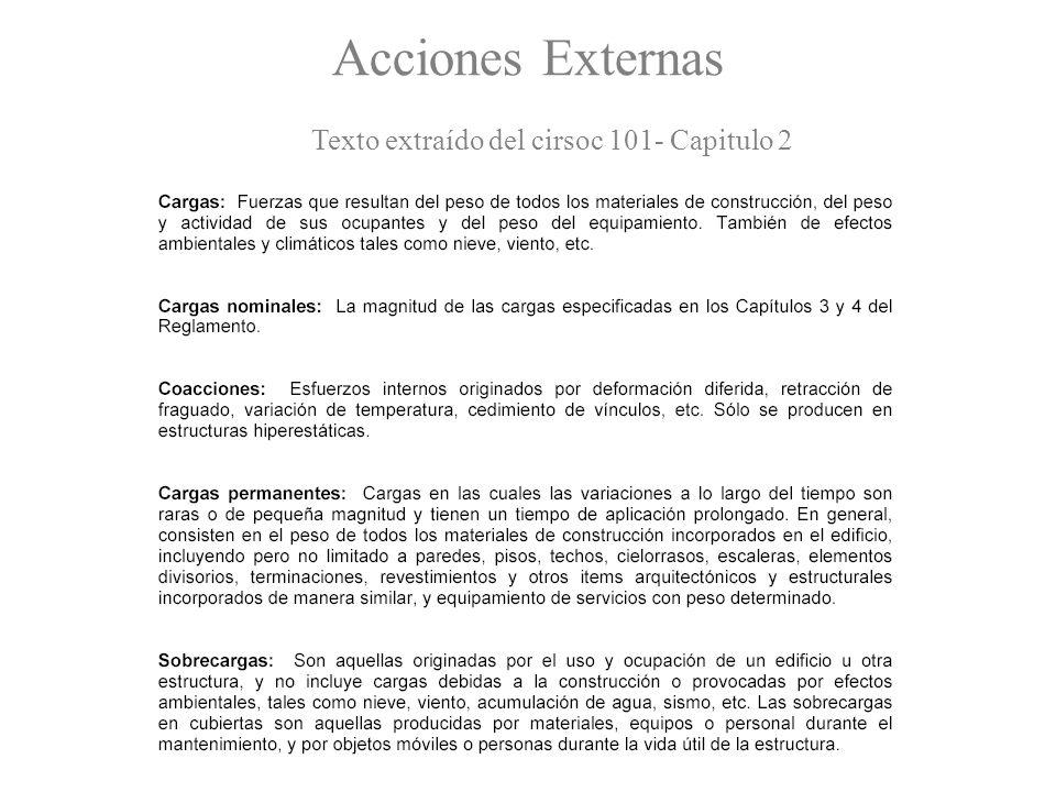 Acciones Externas Texto extraído del cirsoc 101- Capitulo 2