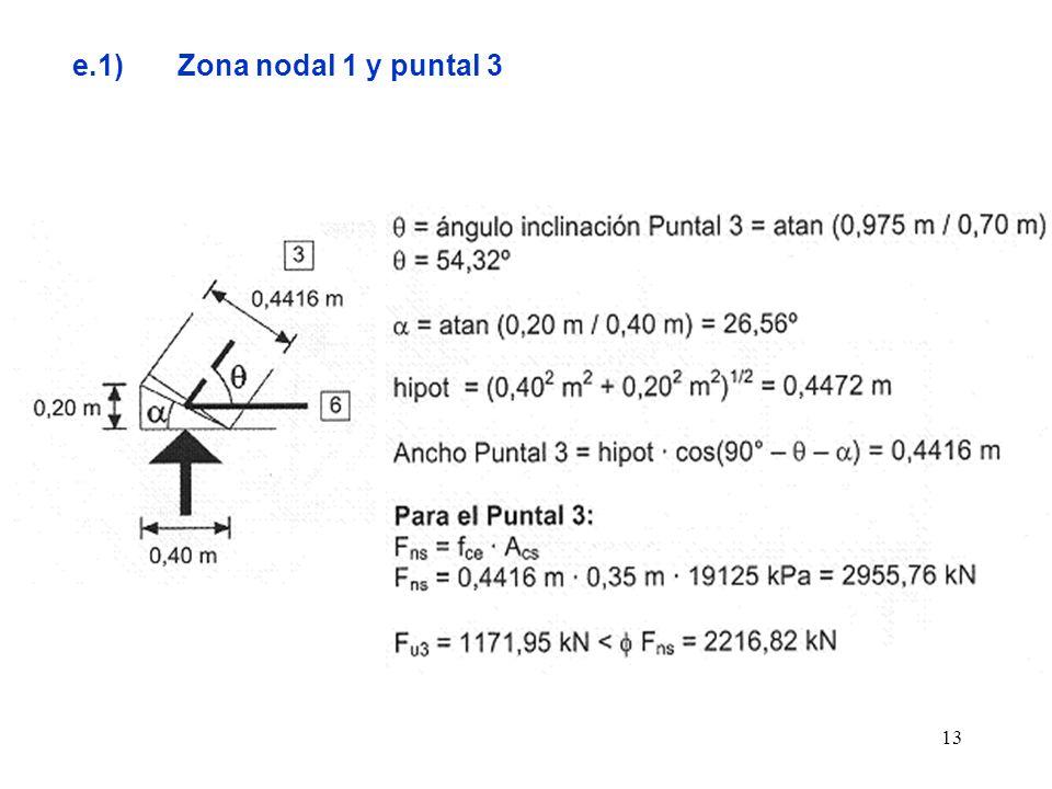 13 e.1)Zona nodal 1 y puntal 3