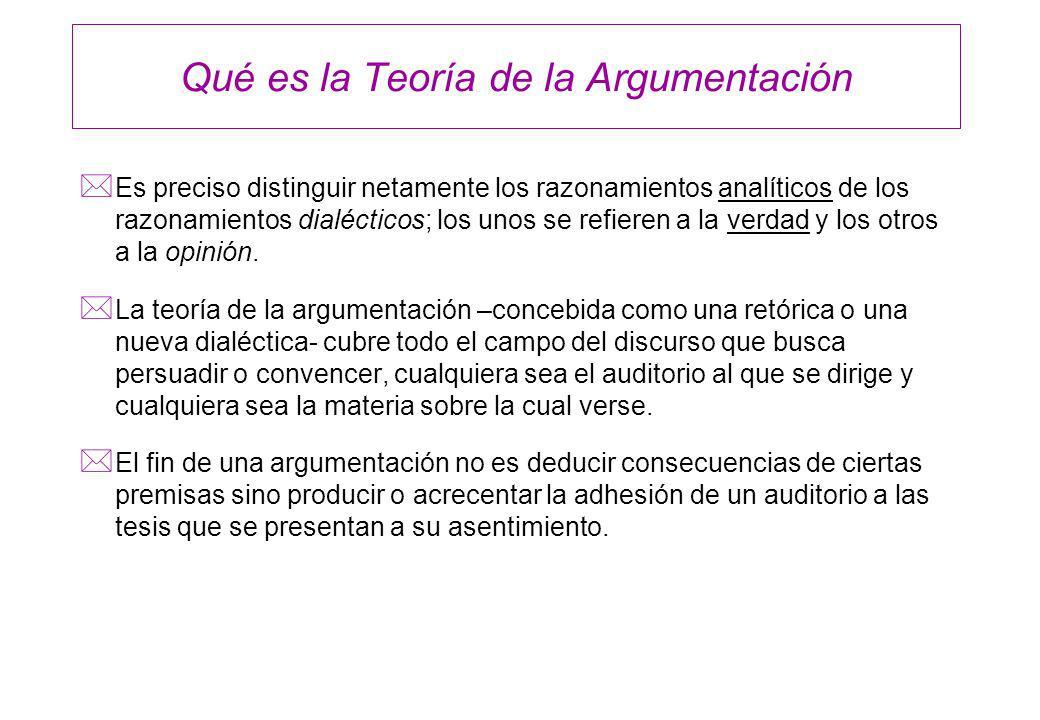 Elementos de una Argumentación * Presentación de una tesis.
