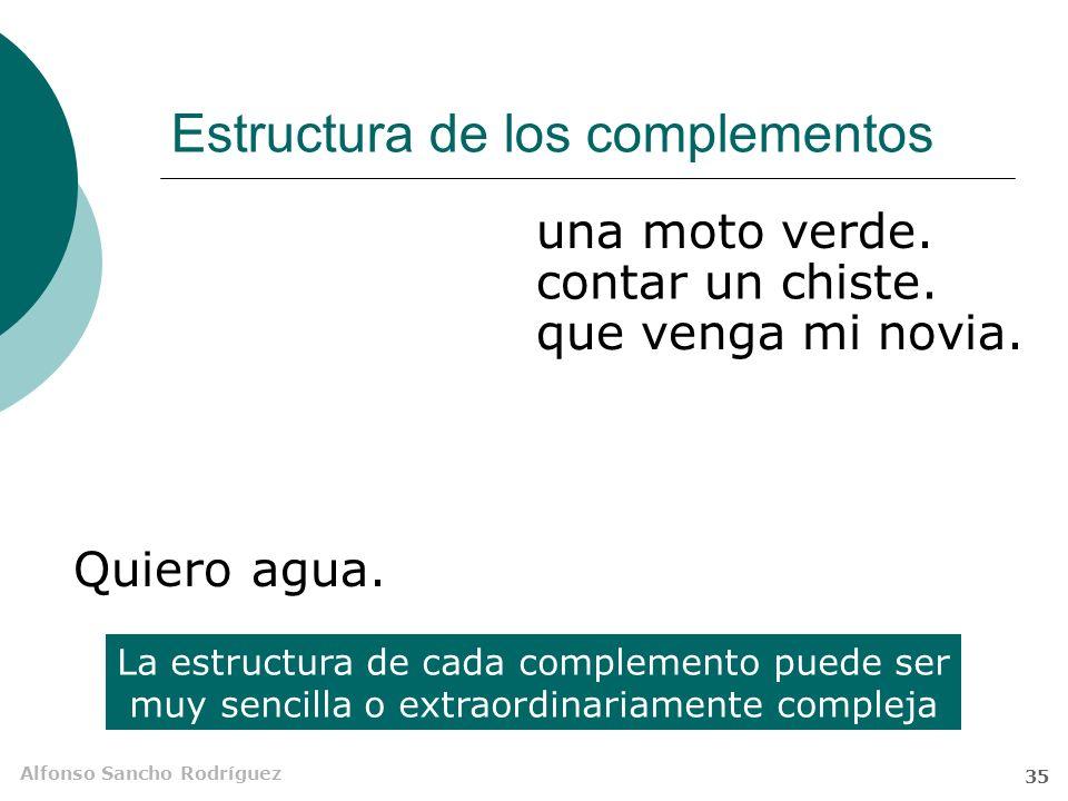 Alfonso Sancho Rodríguez 34 Sujeto gramatical o implícito ¿Sujeto omitido? ¿Sujeto elíptico? El verbo consta de dos signos, uno léxico y otro gramatic