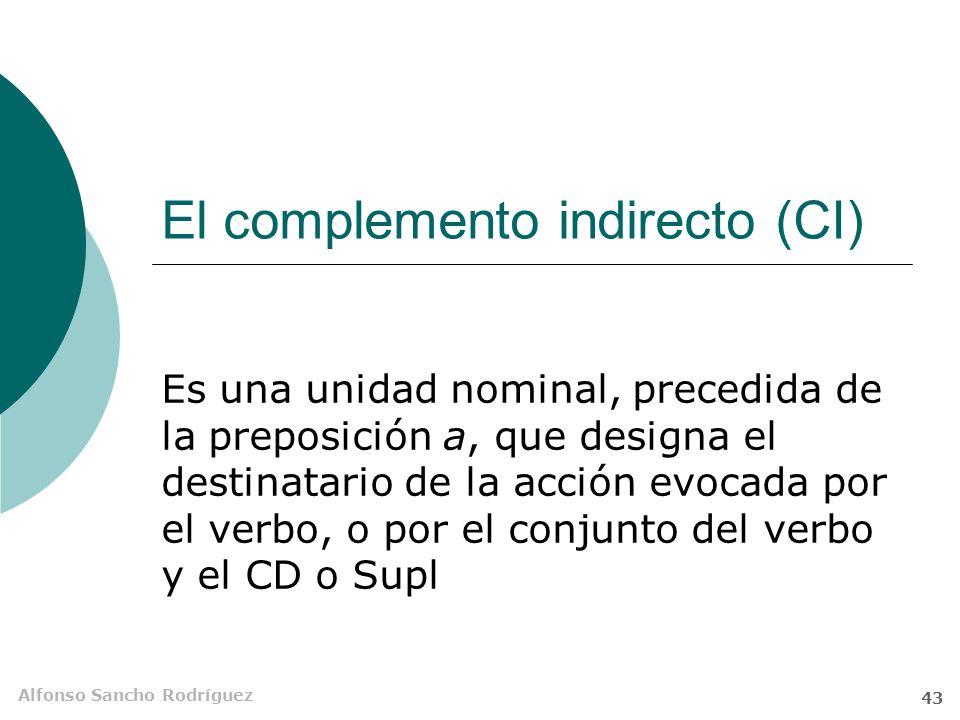 Alfonso Sancho Rodríguez 42 Identificación del CD 5.No te fíes de lo que el V conteste a las famosas preguntitas. 1.Asegúrate de que se trata de un SN