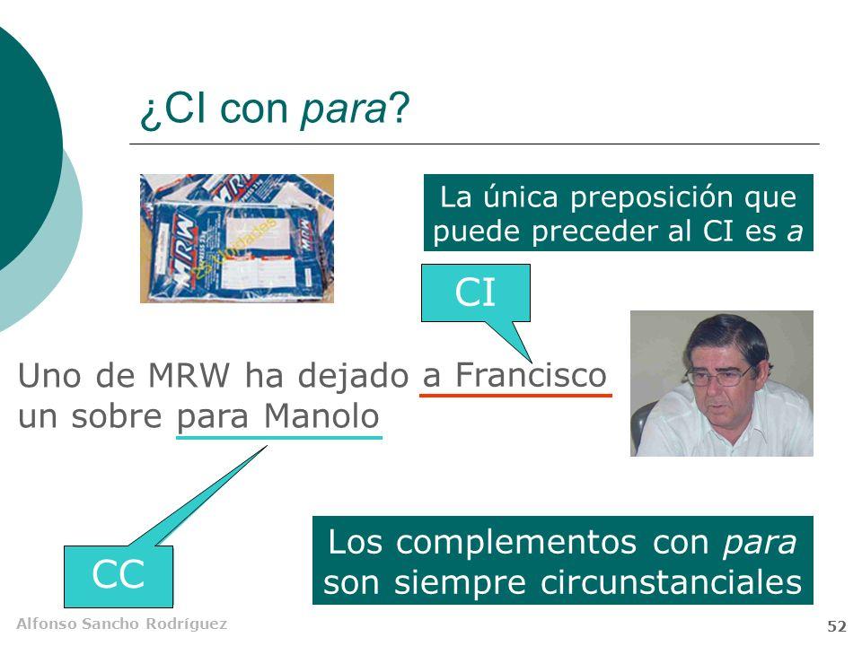 Alfonso Sancho Rodríguez 51 ¿CI con para.