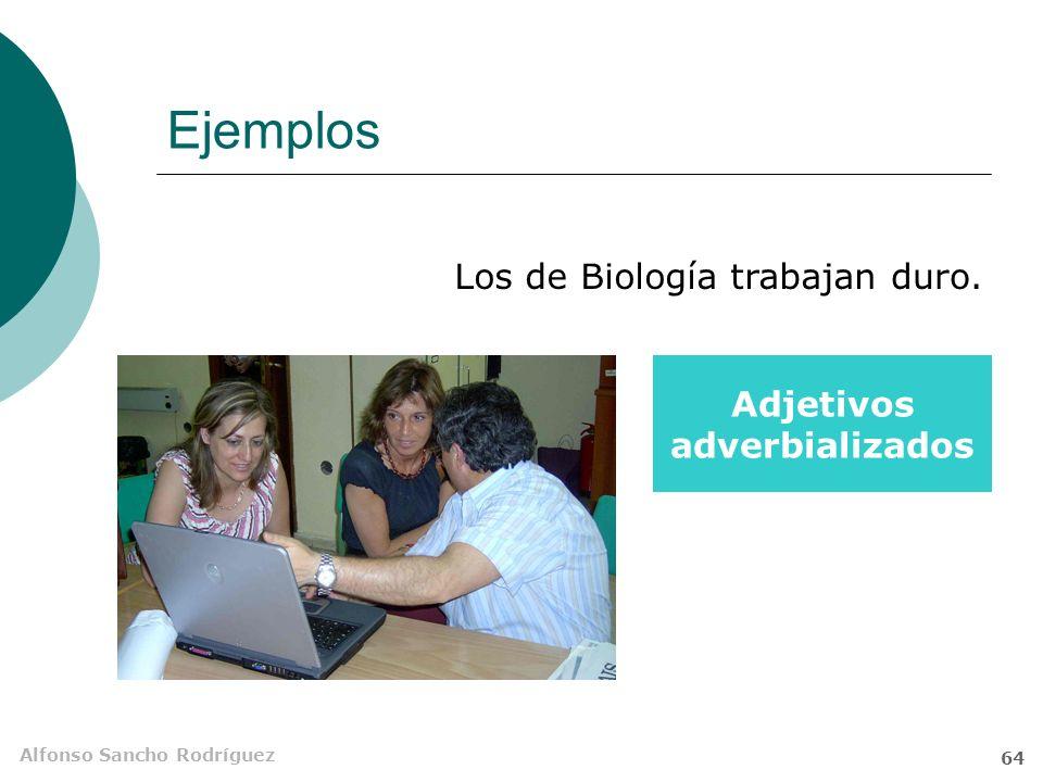 Alfonso Sancho Rodríguez 63 Ejemplos A Copito le encanta ponerse Locuciones de sustantivo + adverbio patas arriba.