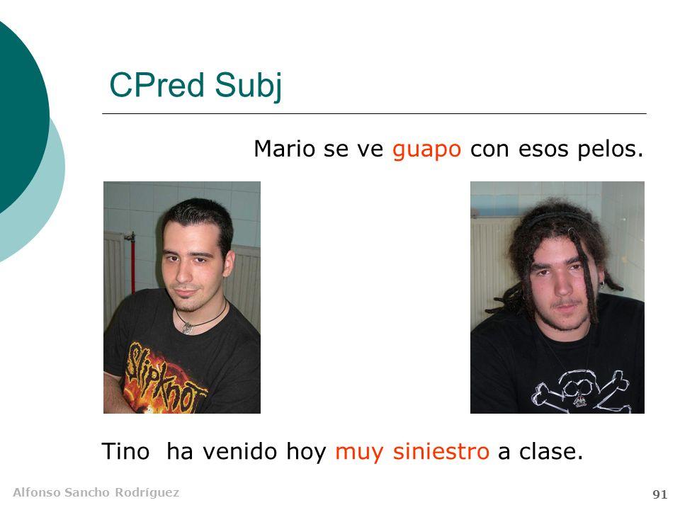 Alfonso Sancho Rodríguez 90 CPred Obj Este tipo tiene la espalda peluda Mar Saura tiene Concierta en género y número con el CD Tiene gran libertad de