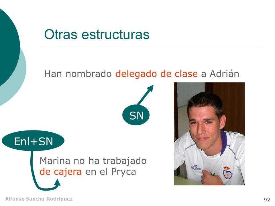 Alfonso Sancho Rodríguez 91 CPred Subj Mario se ve guapo con esos pelos. Tino ha venido hoy muy siniestro a clase.