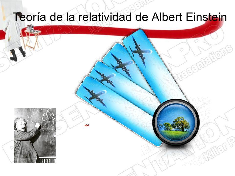 Teoría de la relatividad de Albert Einstein