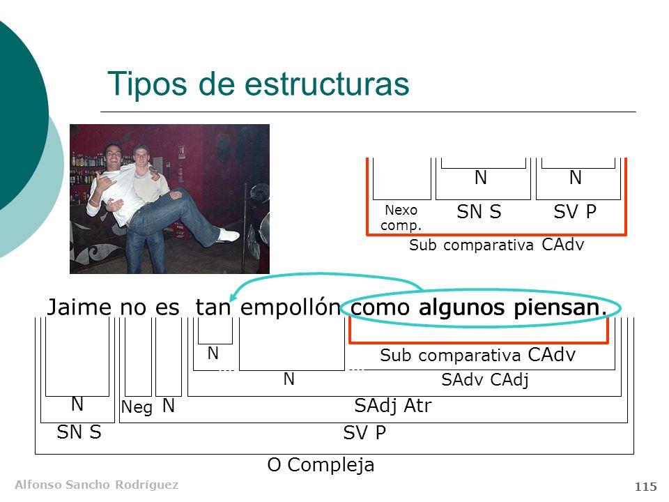 Alfonso Sancho Rodríguez 114 Primer término Segundo término Estructura y significado BaremoBase Nexo Núcleo Cuantificador Farruquito no es tan guapo c