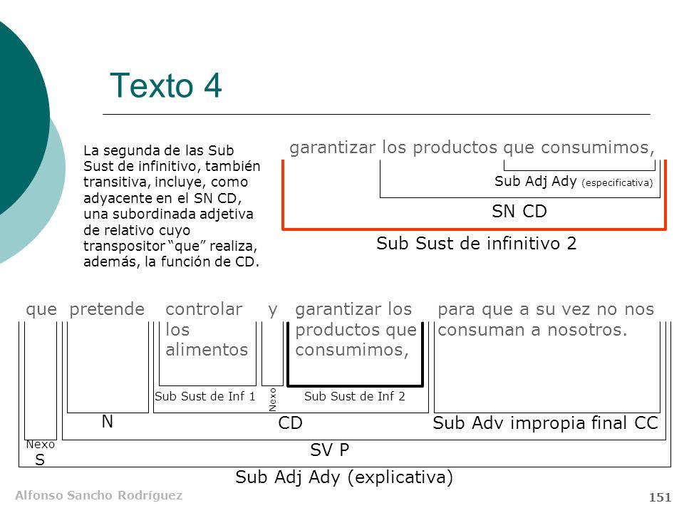 Alfonso Sancho Rodríguez 150 Texto 4 que pretende controlar los alimentos y garantizar los productos que consumimos, para que a su vez no nos consuman