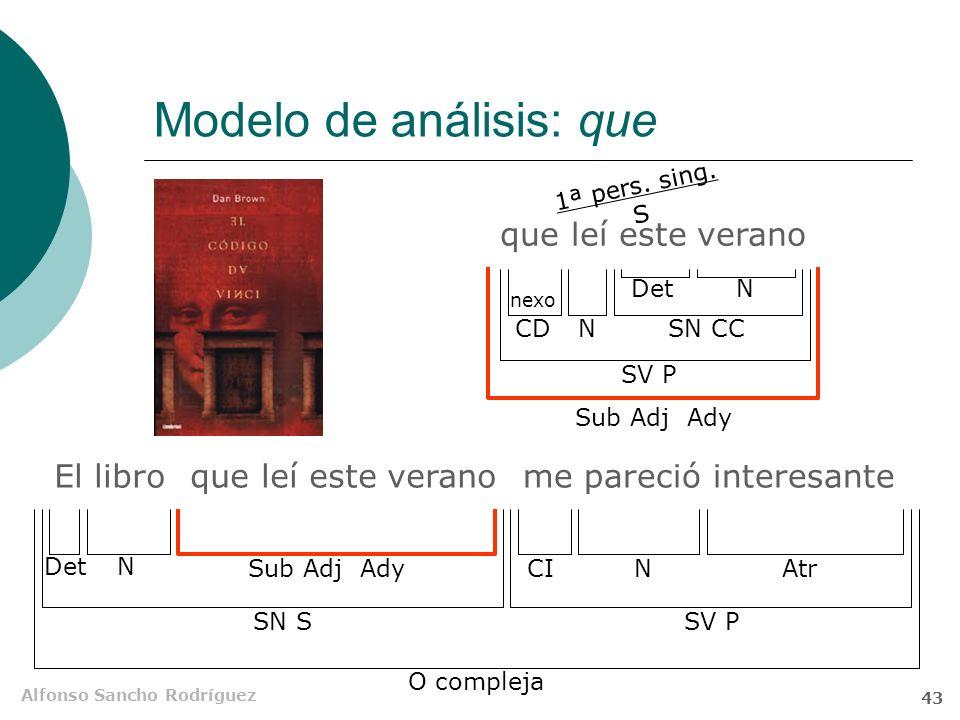 Alfonso Sancho Rodríguez 42 Explicativas / Especificativas Explicativas Van entre comas Añaden una nota semántica no imprescindible para la identifica