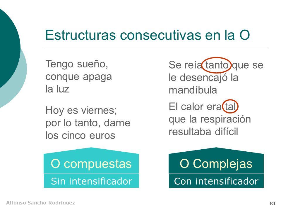 Alfonso Sancho Rodríguez 80 Significado consecutivo en el texto Hemos de tener en cuenta, en primer lugar, los muchos riesgos que entraña para la prop