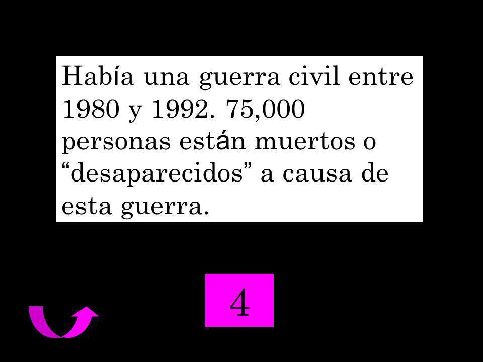 Hab í a una guerra civil entre 1980 y 1992.