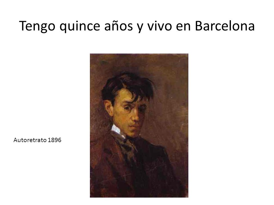 Tengo quince años y vivo en Barcelona Autoretrato 1896