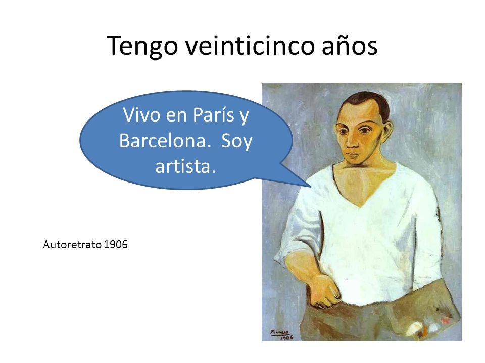 Tengo veinticinco años Vivo en París y Barcelona. Soy artista. Autoretrato 1906