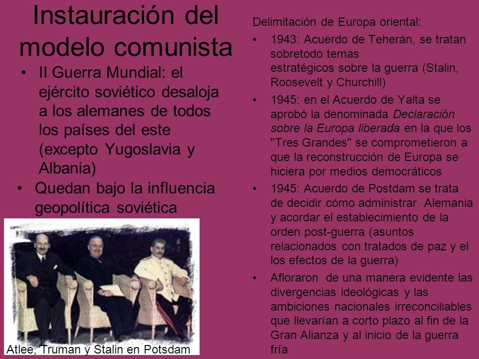 Las revueltas del 56 favorecieron la imposición del revisionismo 1956: Insurrección de Pozdam Estallan una huelga y una insurrección, estimuladas por reivindicaciones salariales, sobre las normas de producción, los precios, etc.