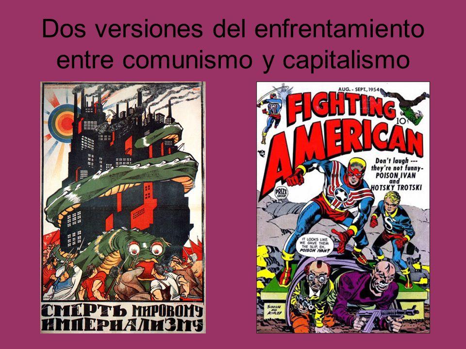 Dos versiones del enfrentamiento entre comunismo y capitalismo Cartel soviético