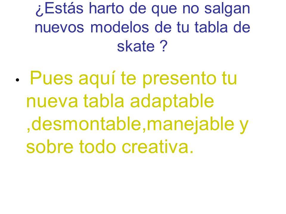 Sktamontable es una idea innovadora que une un deporte como el skate y un arte como la arquitectura.