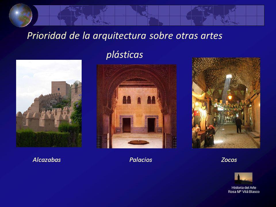 Prioridad de la arquitectura sobre otras artes plásticas Historia del Arte Rosa Mª Vilá Blasco AlcazabasZocosPalacios