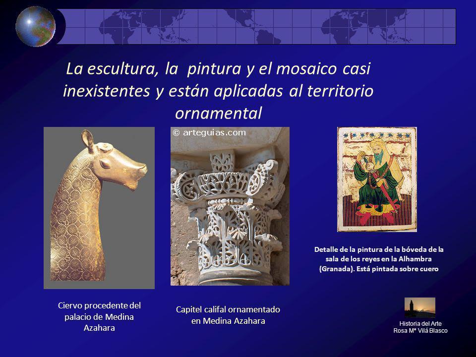 La escultura, la pintura y el mosaico casi inexistentes y están aplicadas al territorio ornamental Historia del Arte Rosa Mª Vilá Blasco Capitel calif