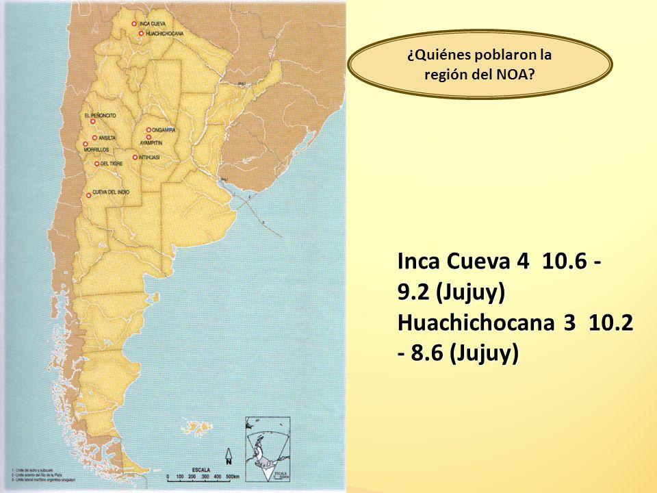 Los Toldos, Cueva 3 12.6 (Santa Cruz) Cueva Las Buitreras 12.8 (Santa Cruz) Arroyo Seco 2 11.7 -7.3 (Bs. As.)