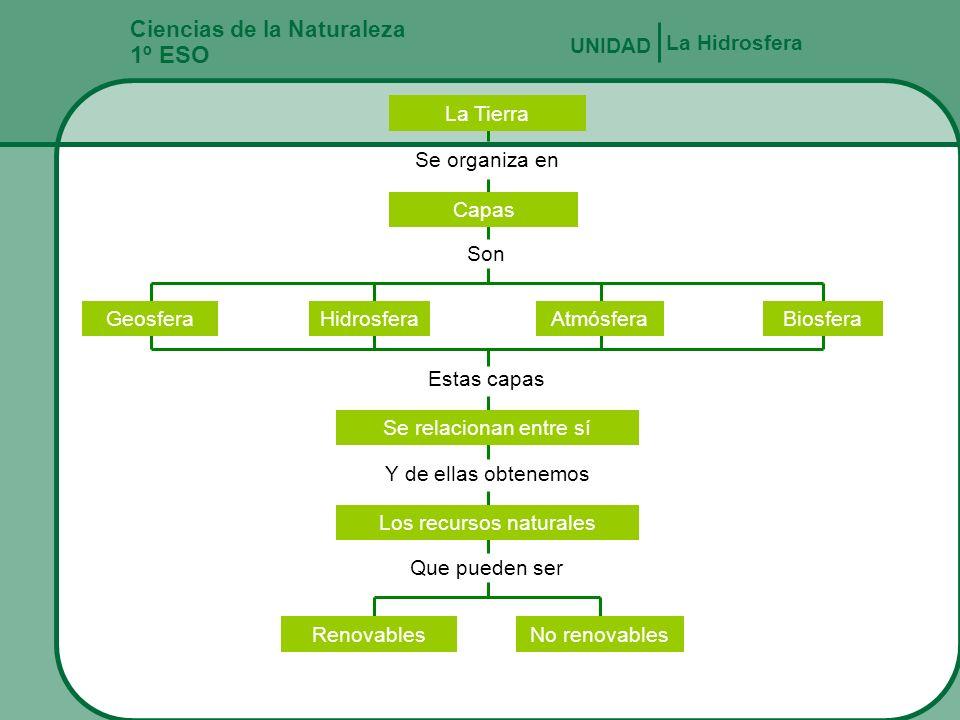 Ciencias de la Naturaleza 1º ESO LA HIDROSFERA UNIDAD 4