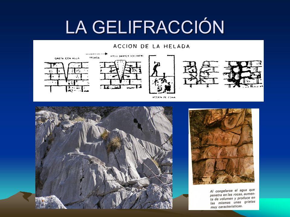 LAS AGUAS SALVAJES Cuando en el terreno existen grandes rocas que protegen de la erosión al suelo que hay debajo de ellas, el agua arrastra los materiales que no están protegidos y se forman las chimeneas de hadas