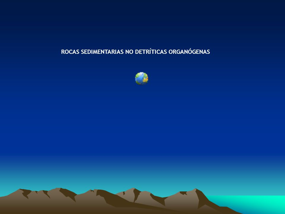 ROCAS SEDIMENTARIAS NO DETRÍTICAS ORGANÓGENAS