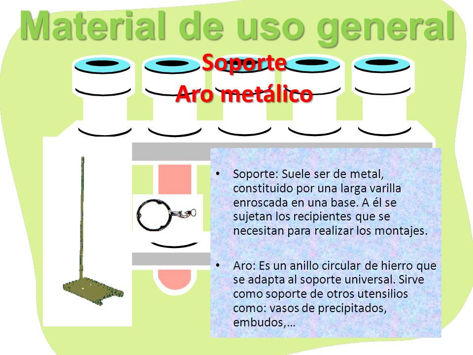 Material de uso general Doble nuez Permiten sujetar diversos aparatos al soporte, efectuando así los montajes necesarios para los experimentos.