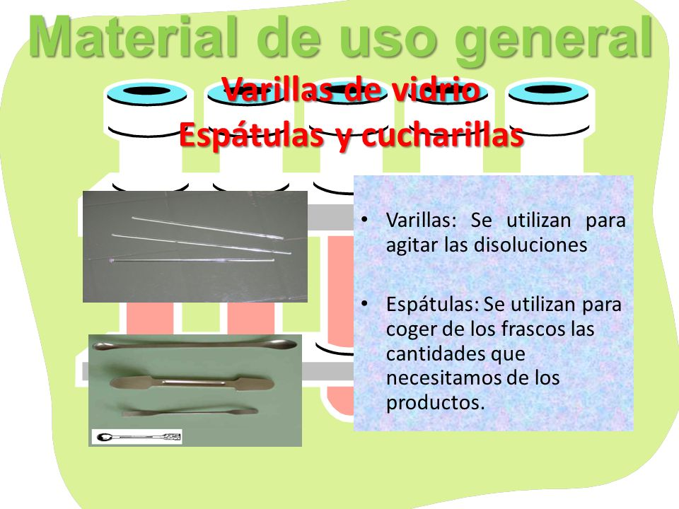 Materialpara contener sustancias Material para contener sustancias Vasos de precipitados Recipiente de vidrio de forma cilíndrica y fondo plano.