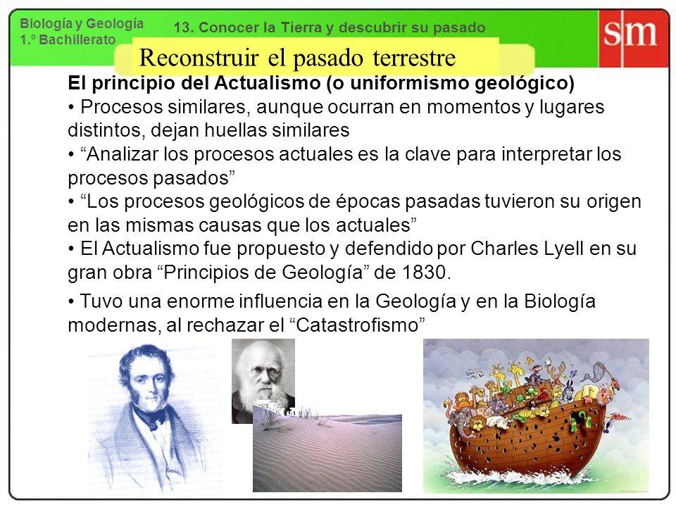 Reconstruir el pasado terrestre El principio del Actualismo (o uniformismo geológico) Procesos similares, aunque ocurran en momentos y lugares distint