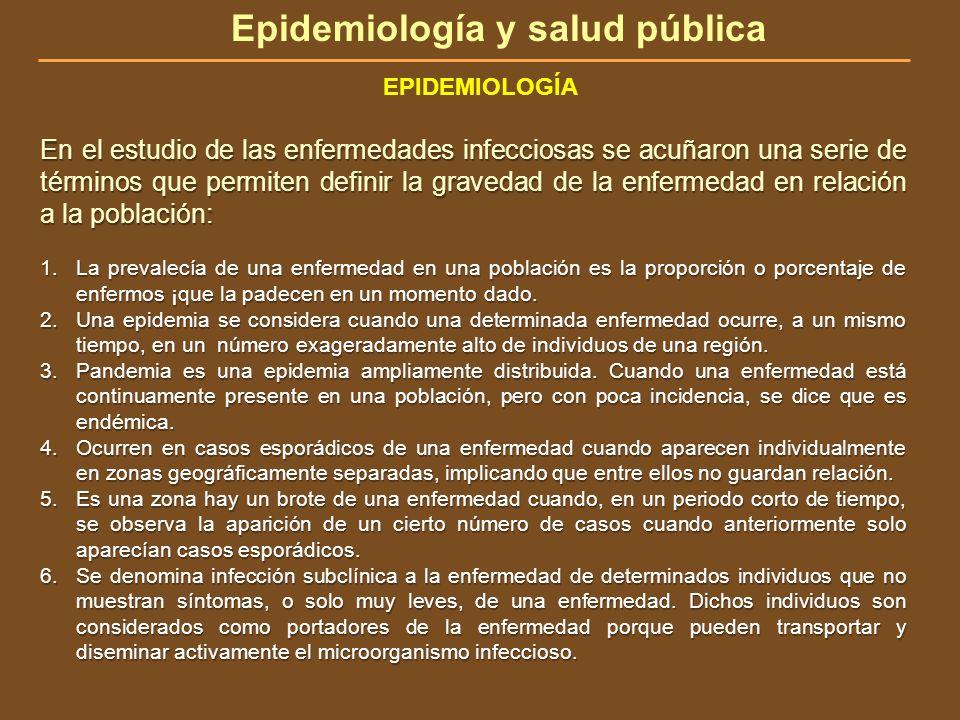 En el estudio de las enfermedades infecciosas se acuñaron una serie de términos que permiten definir la gravedad de la enfermedad en relación a la pob