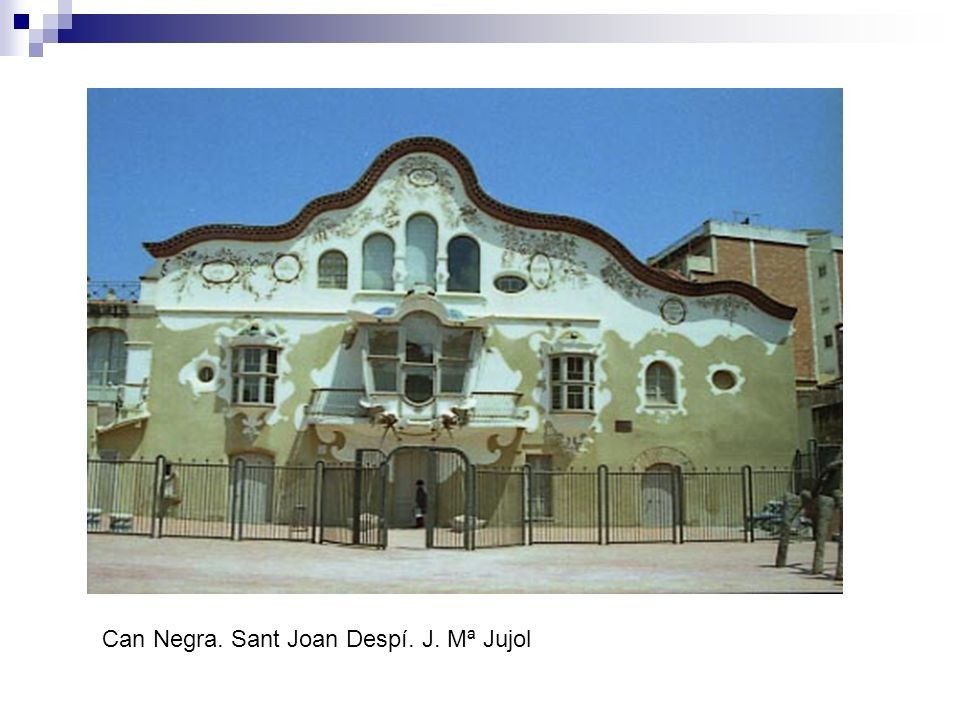Can Negra. Sant Joan Despí. J. Mª Jujol