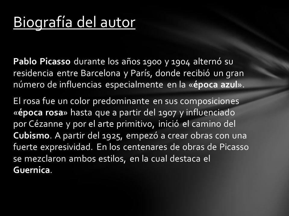 Pablo Picasso durante los años 1900 y 1904 alternó su residencia entre Barcelona y París, donde recibió un gran número de influencias especialmente en