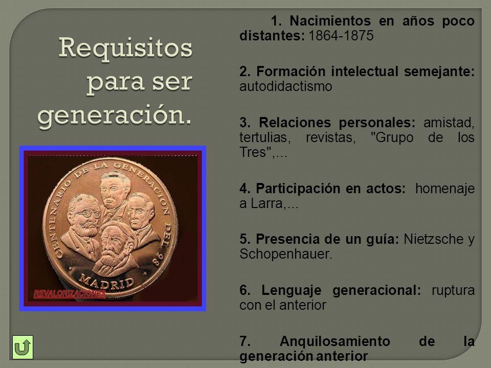 1.Inicios reformistas y regeneracionistas. 2.