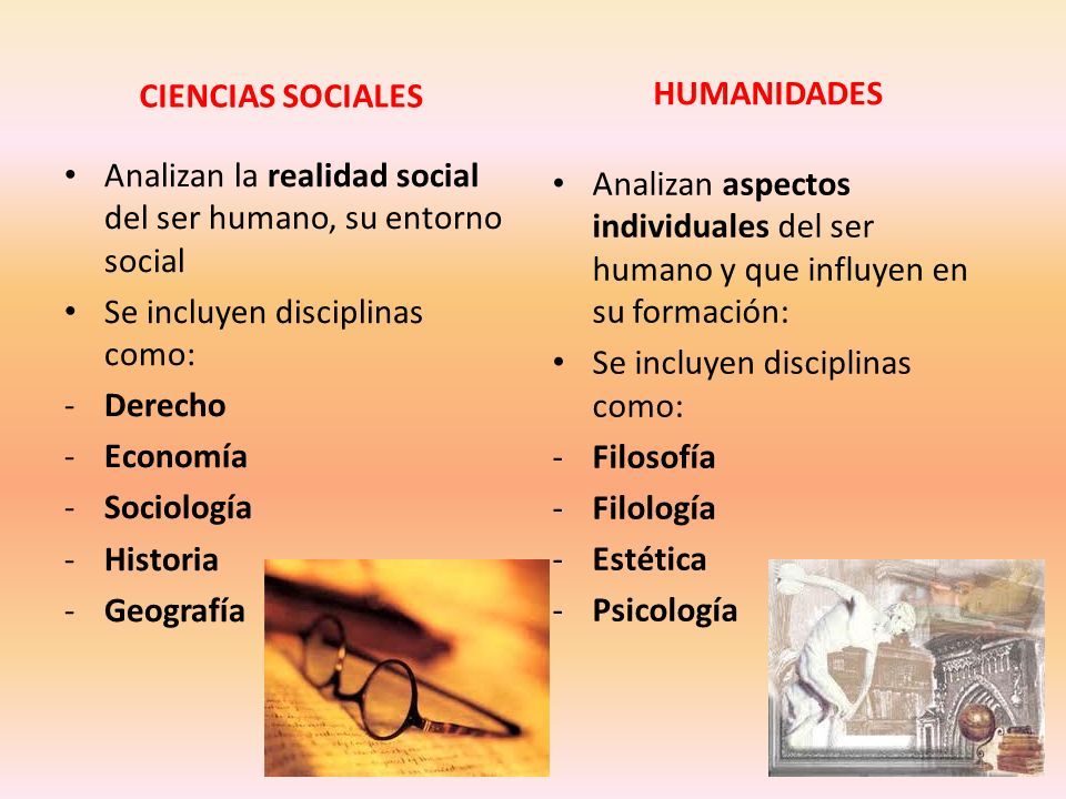 CIENCIAS SOCIALES Analizan la realidad social del ser humano, su entorno social Se incluyen disciplinas como: -Derecho -Economía -Sociología -Historia