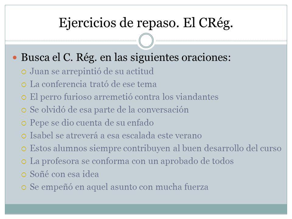Soluciones Busca el C.Rég.